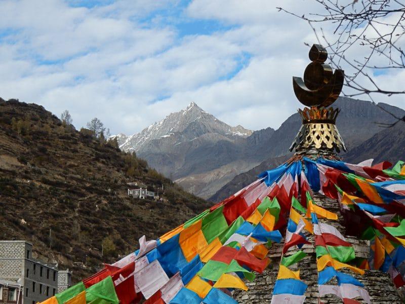 Monastery at Siguniangshan
