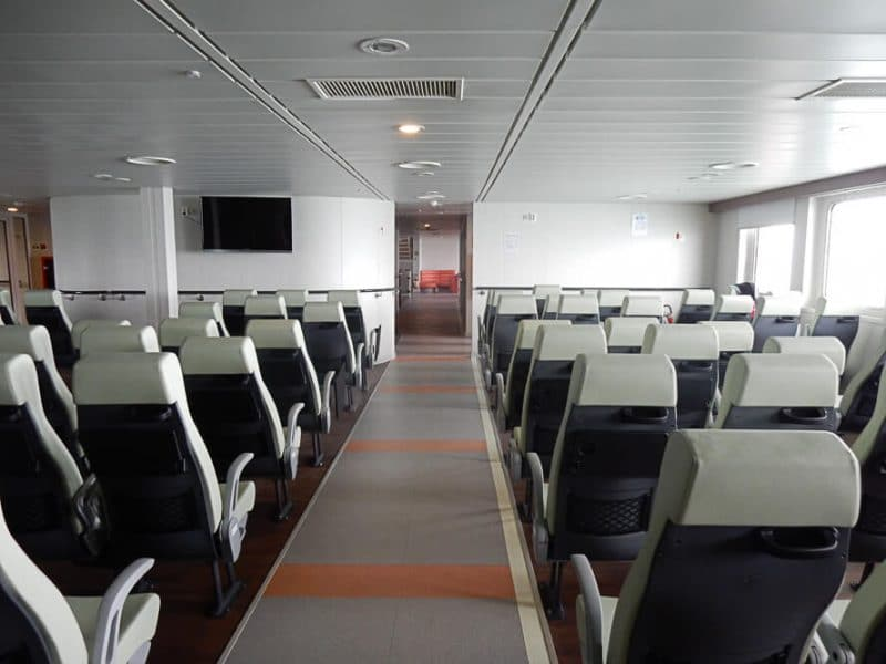 Inside the Caspian Sea Ferry