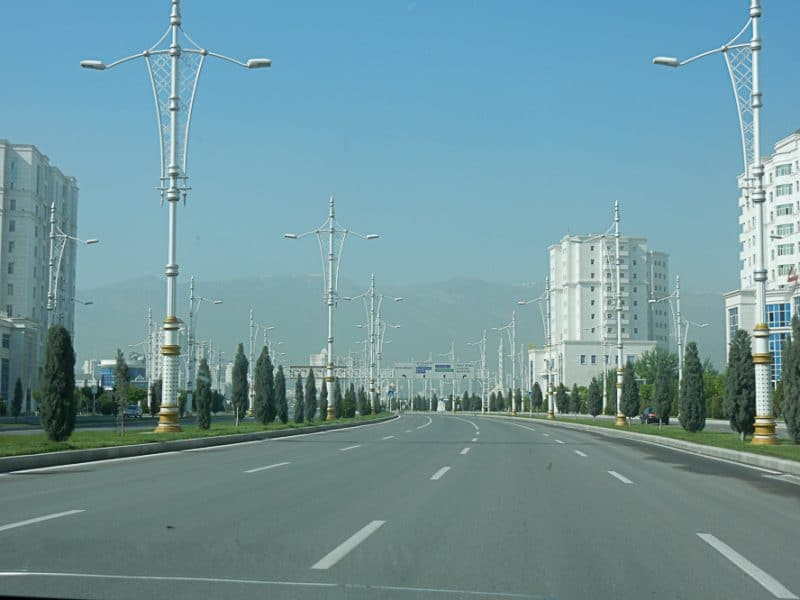 Empty Streets of Ashgabat