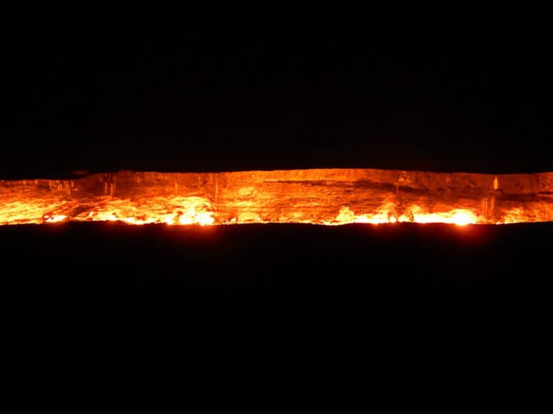 The Door to Hell at Night