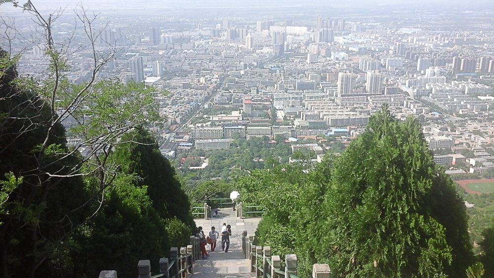 View of Xi'an from Lishan