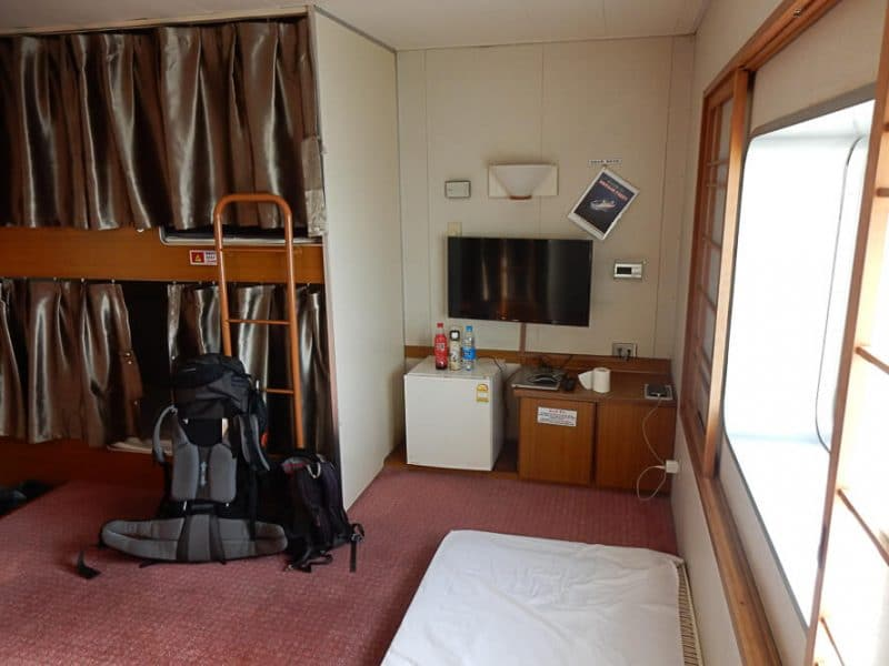 Cabin, China to Korea ferry