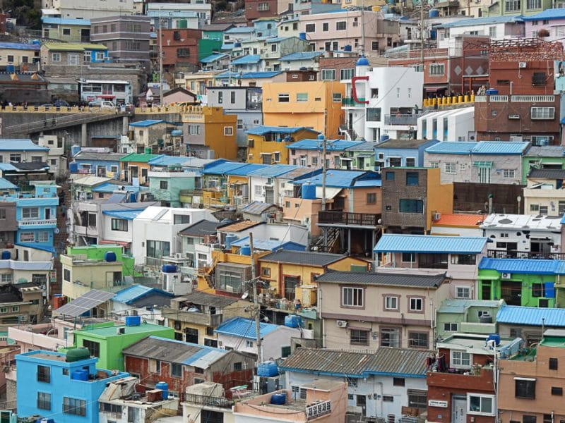 Brightly colored houses of Gamcheon, Busan, Sout Korea.