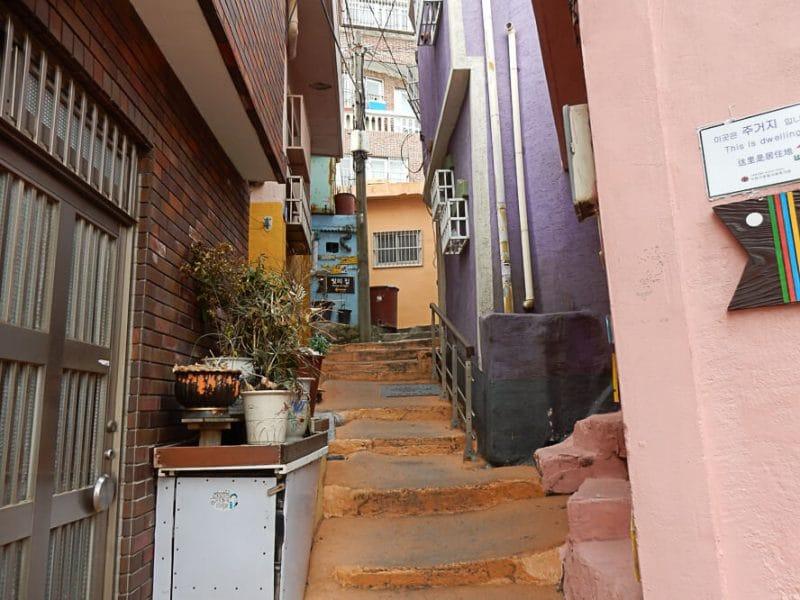 Alleyway in Gamcheon, Busan, South Korea