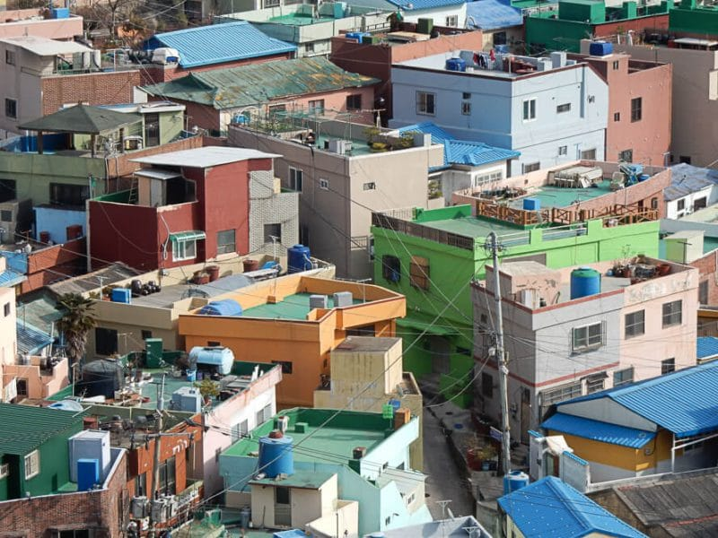 Pastel colored houses, Gamcheon, Busan, South Korea