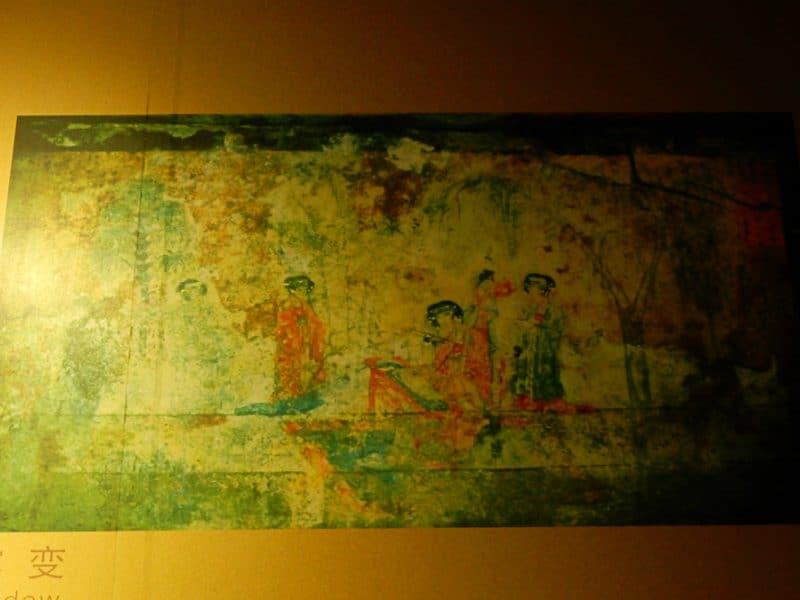 Fresco inside ancient art museum,Luoyang
