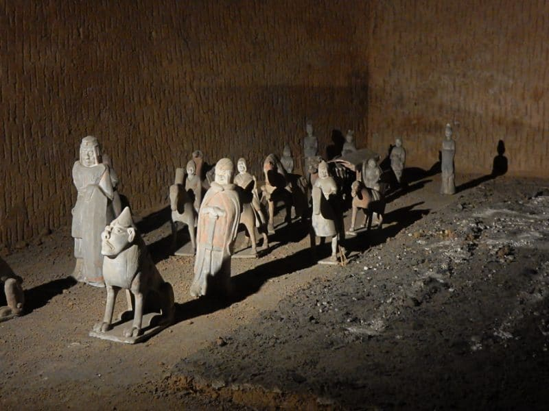 Tomb artifacts inside the ancient art museum, Luoyang