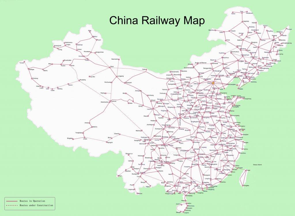 China Railway Map