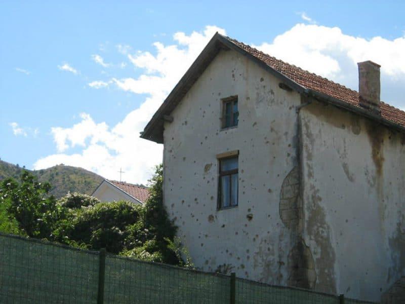 Bombed Buildings, Mostar, Bosnia