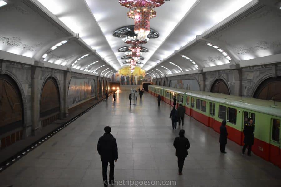 Inside Pyongyang Metro, North Korea