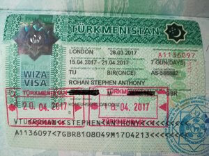 Turkmenistan VISA. Important part of the Silk Road.