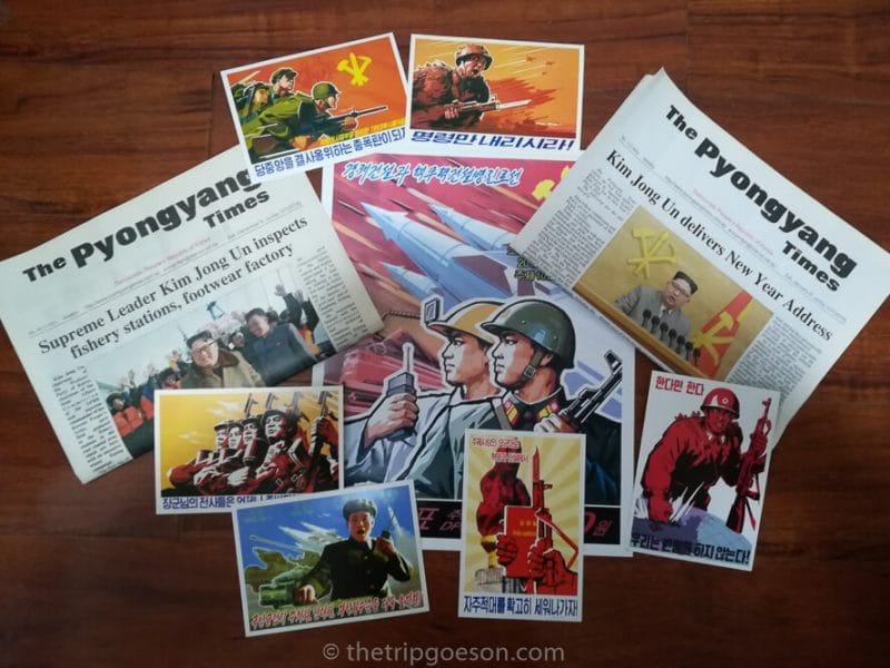 Souvenirs from my North Korea Tour