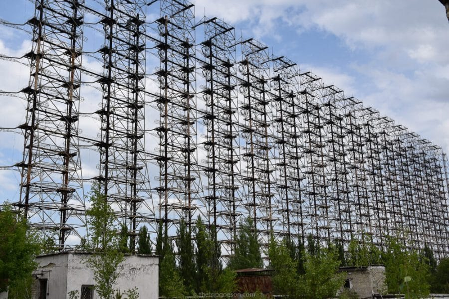 Duga radar station, visiting Chernobyl