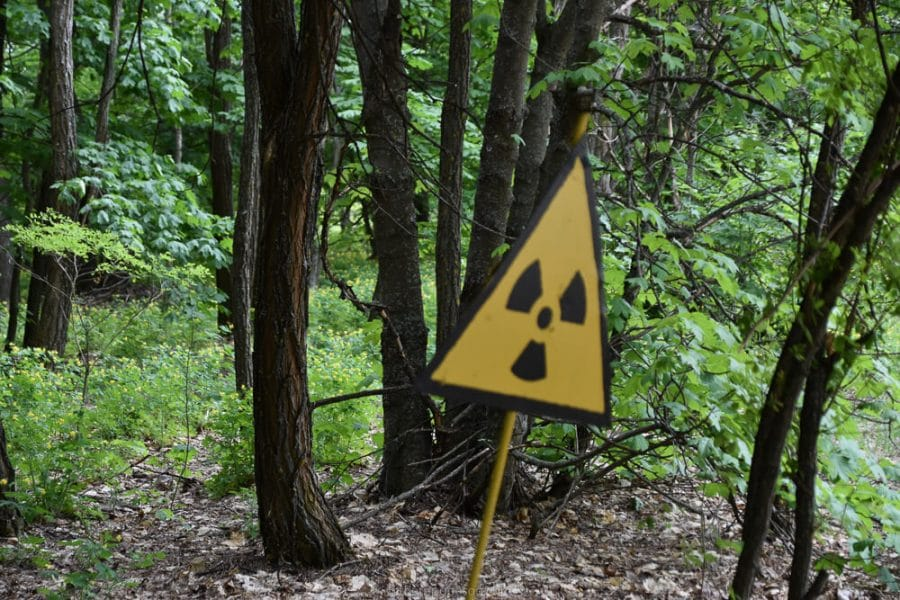 Nuclear warning sign, visit Chernobyl