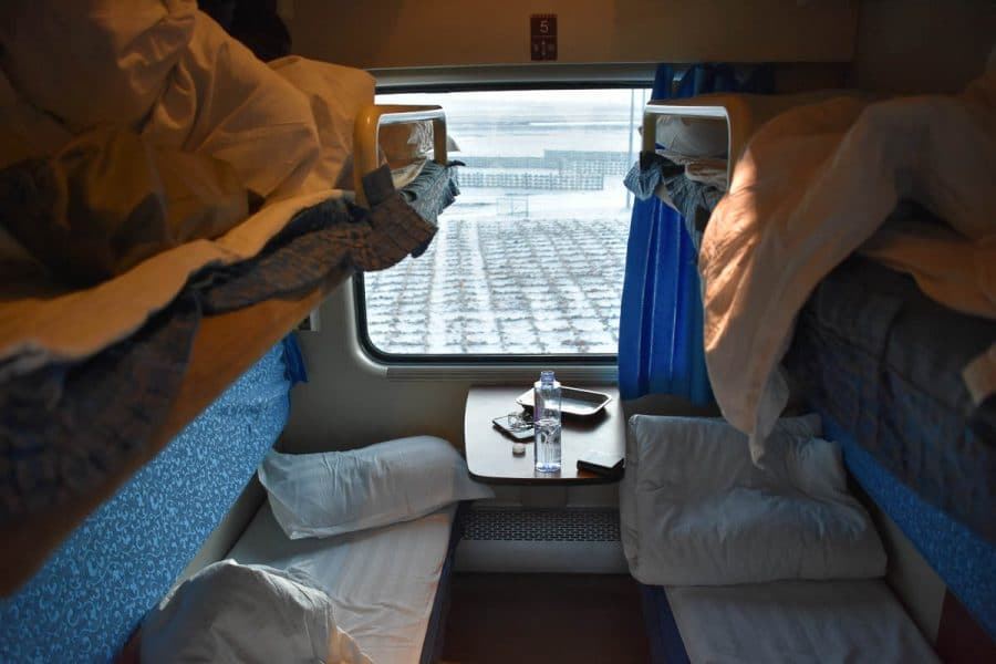 Bunks on the train to Lhasa