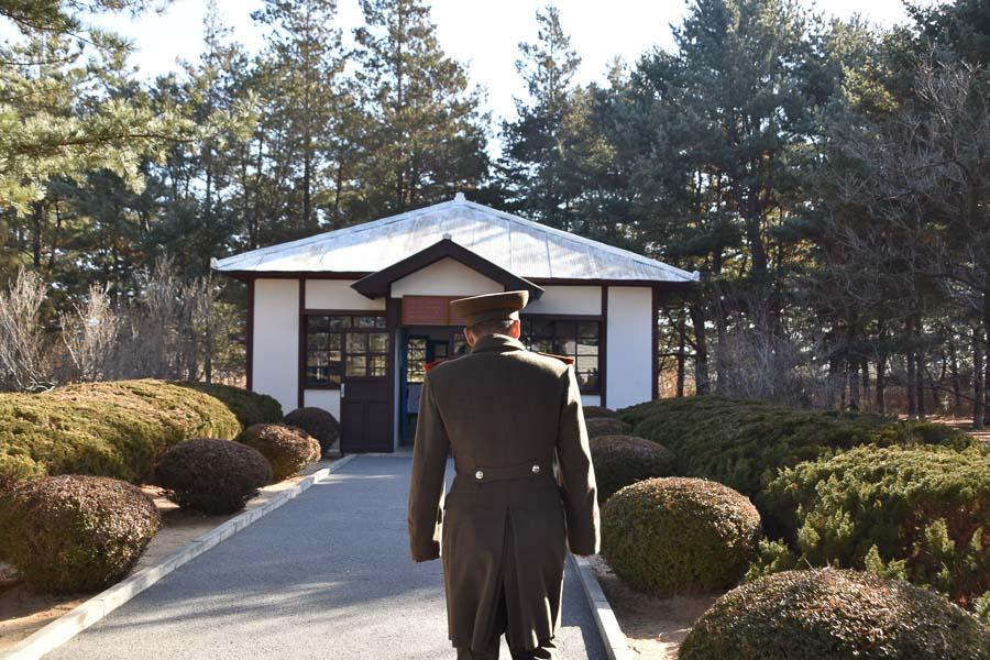 North Korean army Captain at the DMZ