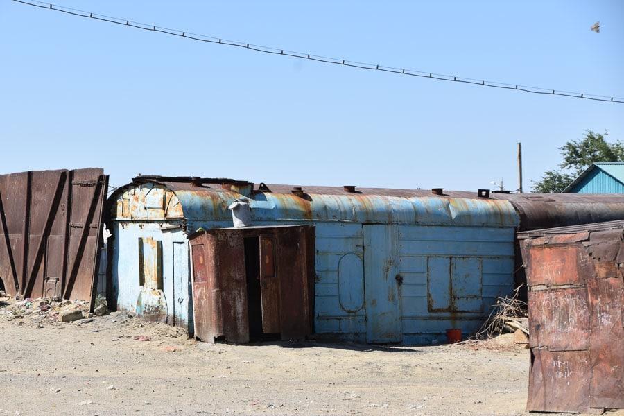 Rusting railway car