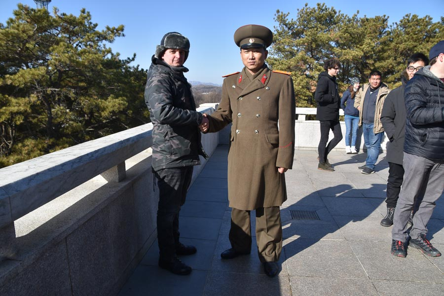 With the North Korean Army Captain