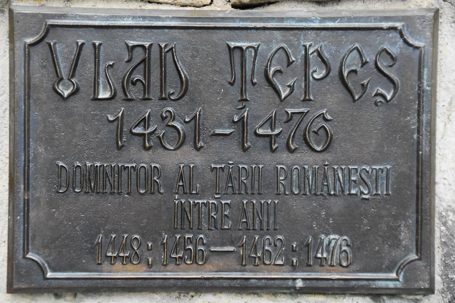 Vlad Tepes Plaque