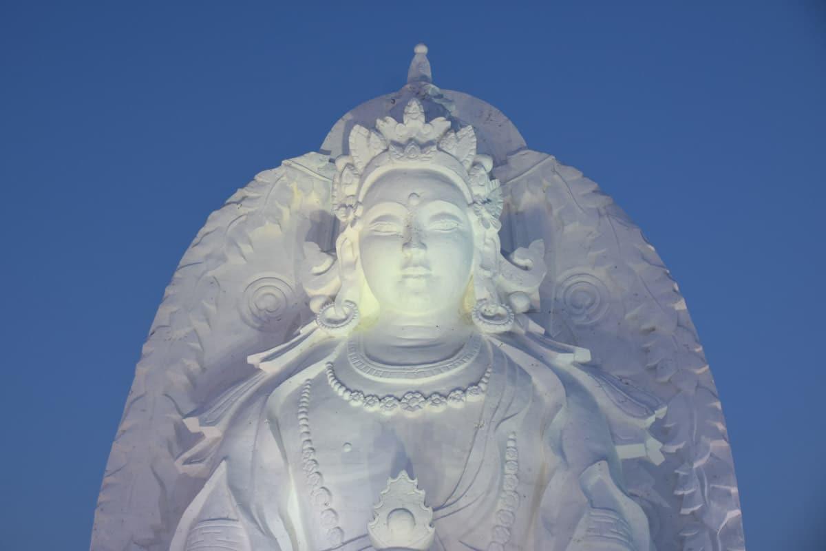 Buddha Made of Snow