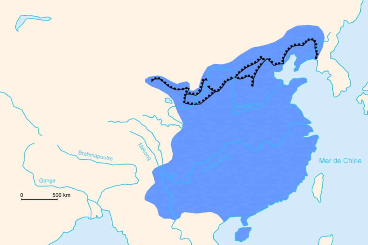 Map of te Ming Great Wall