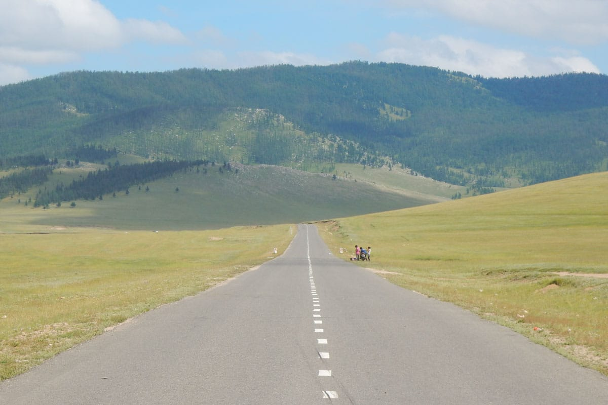Road across the steppe