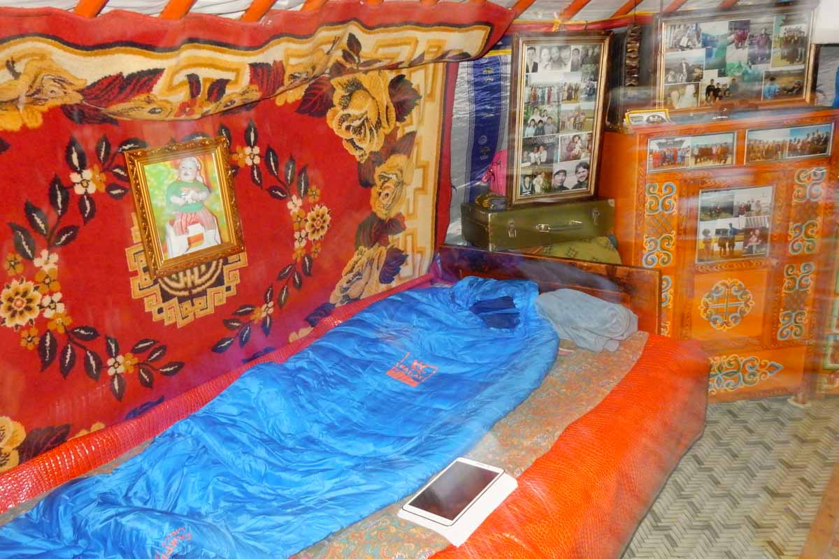 My bed in the first camp